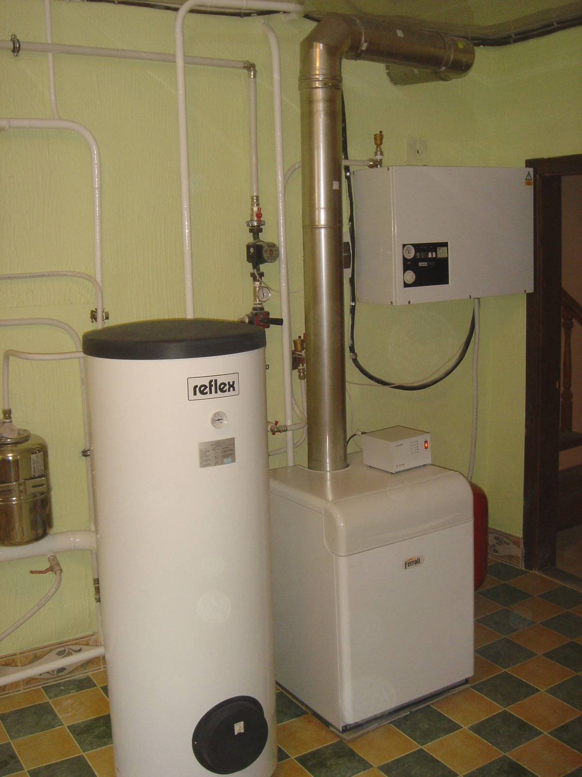 Вытяжка газового котла в частном доме фото схема